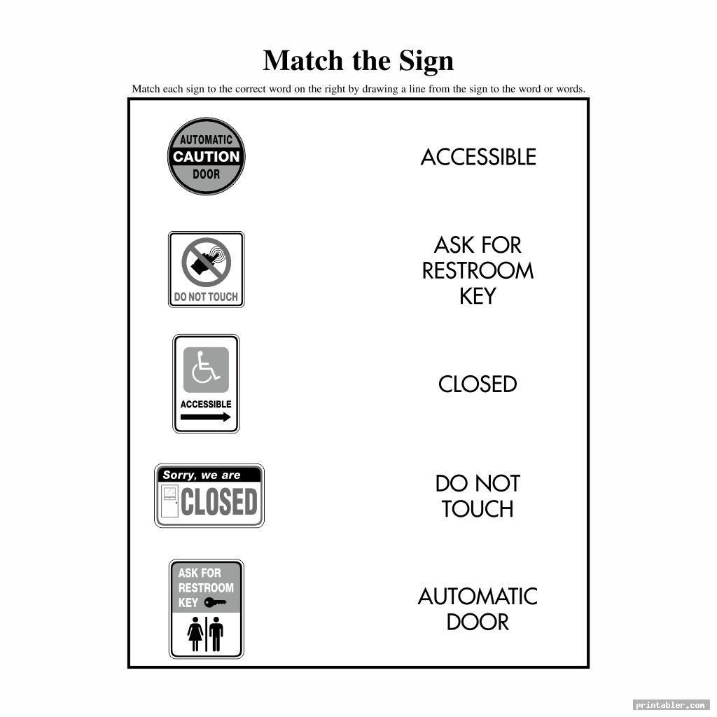 Printable Survival Signs Worksheets