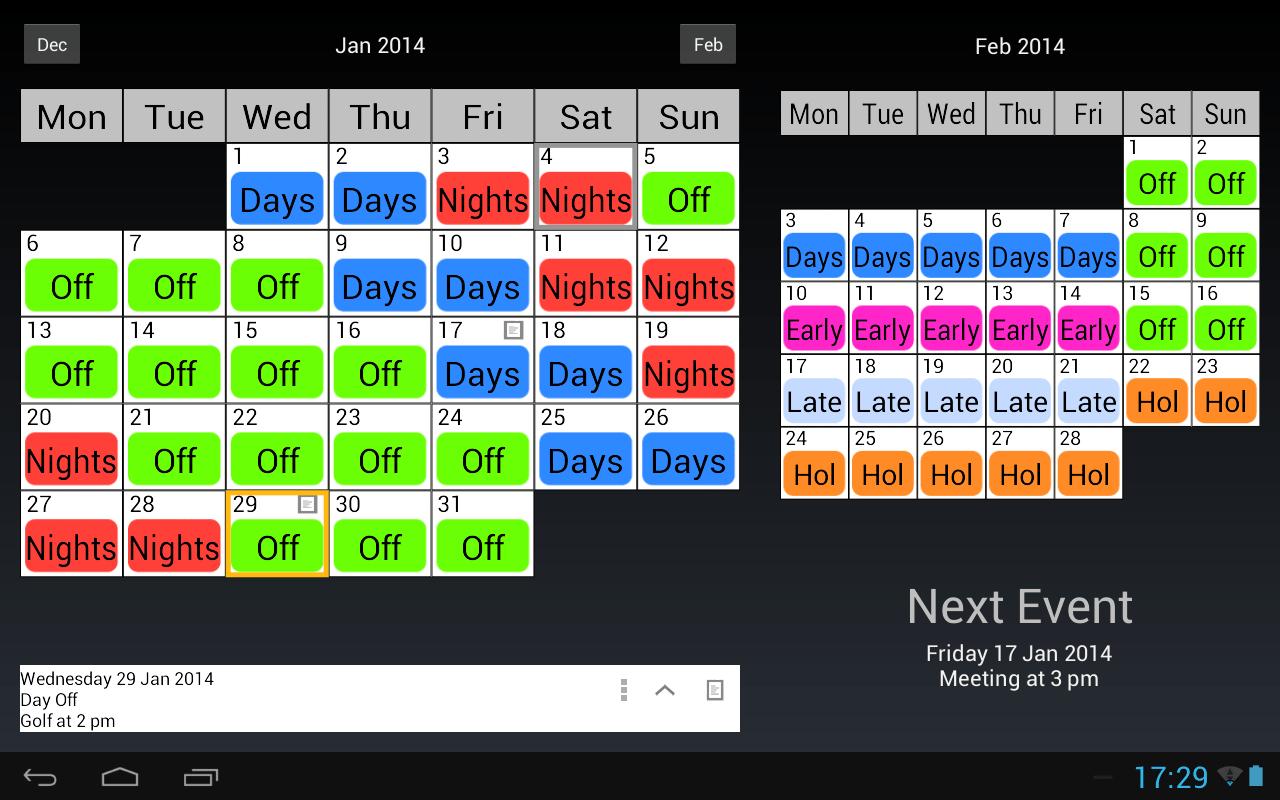 4 10 Work Schedule Template