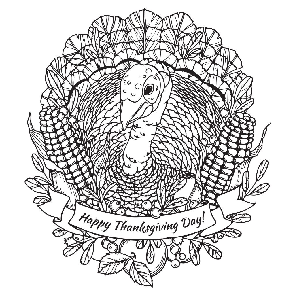 Thanksgiving Adult Coloring Pages