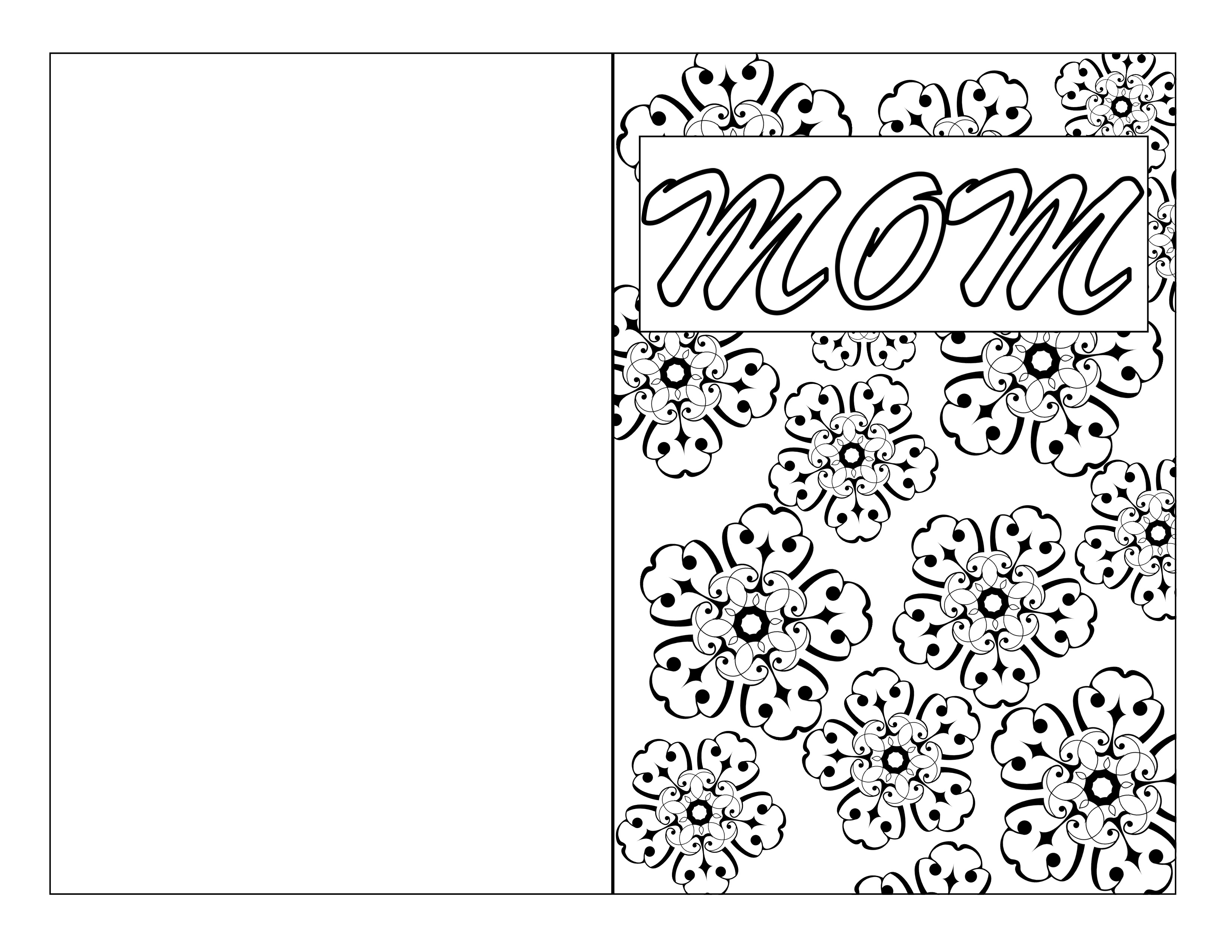 Mother S Day Coloring Page Card Diy