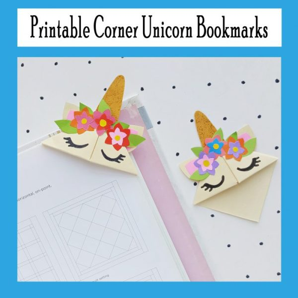 printable unicorn bookmarks # 12