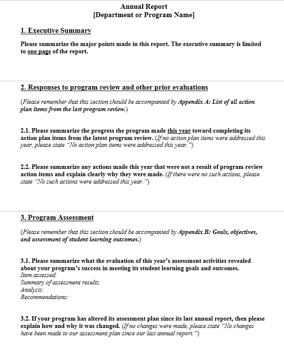 13 Free Sample Annual Financial Report Templates