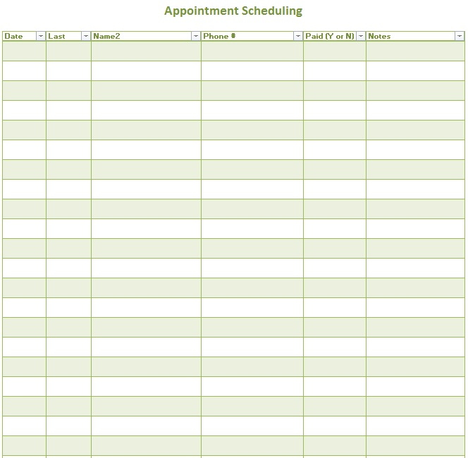 Appointment Scheduler Template - Apigram.Com