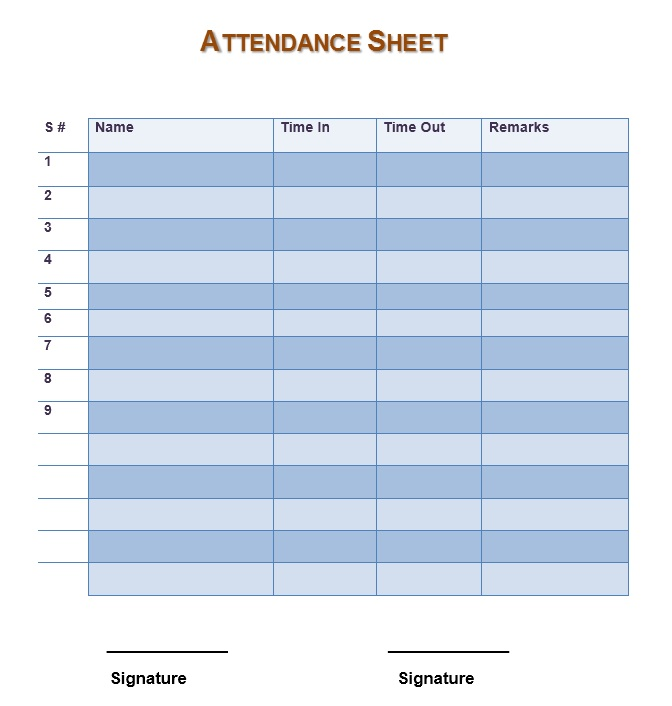 attendance template pacqco – Attendance Template