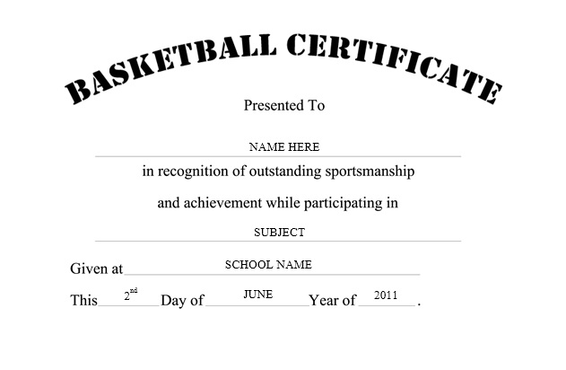 13 free sample basketball certificate templates printable samples here is preview of another sample basketball certificate template created using ms word yadclub
