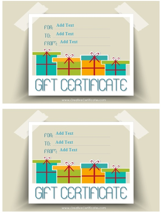 Here Is Preview Of Another Sample Business Gift Certificate Template  Created Using MS Word,  Gift Certificate Maker Free