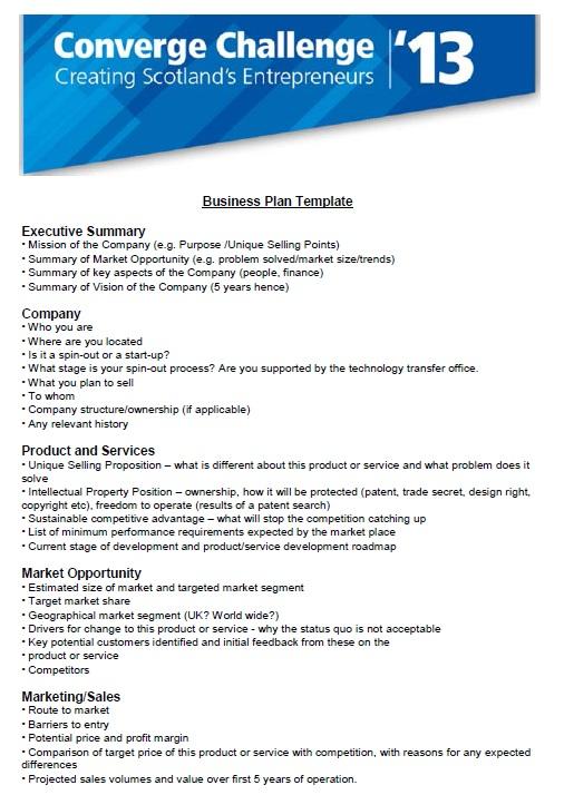 sales business plan
