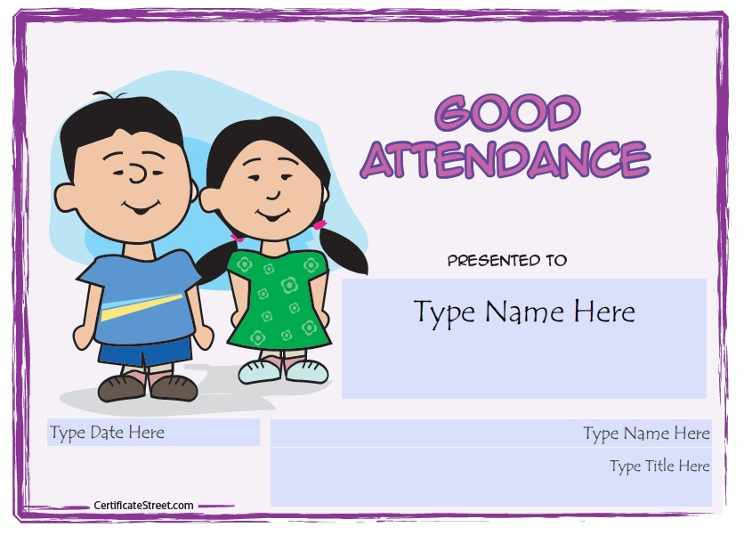 13 free sample perfect attendance certificate templates here is preview of another sample attendance certificate template in pdf format yelopaper Image collections