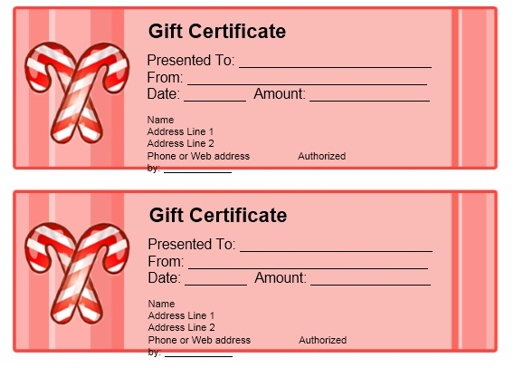 11 free sample christmas gift certificate templates printable samples for How to make a certificate in google docs