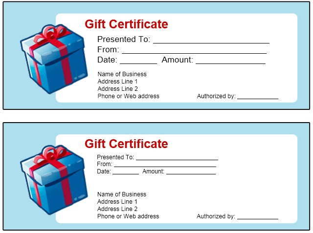 12 free sample holiday gift certificate templates printable samples here is preview of another sample holiday gift certificate template created using ms power point yadclub Images