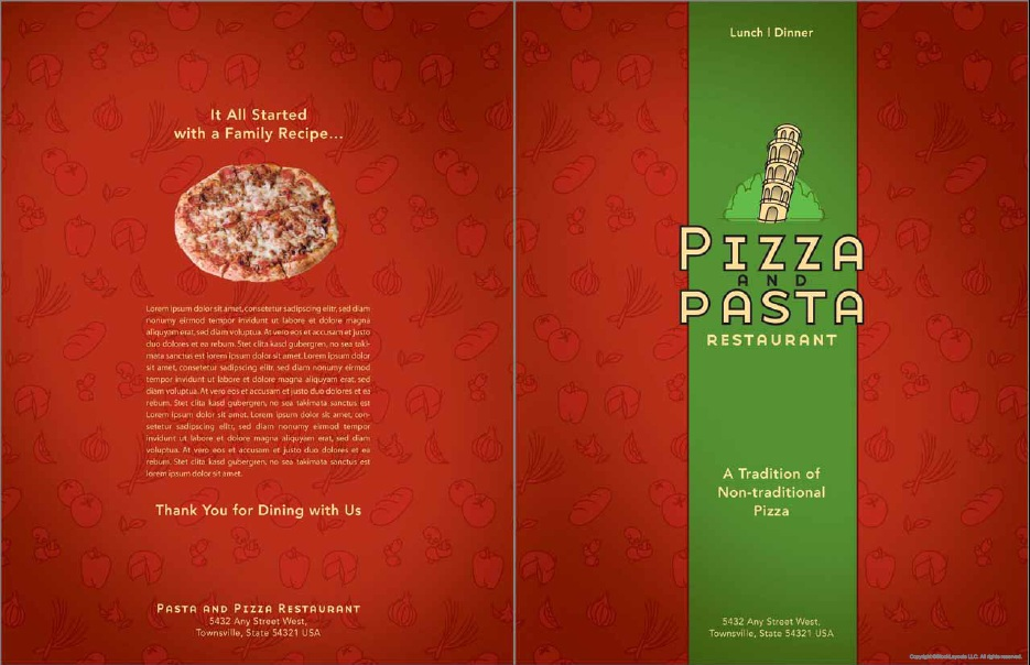 Here Is Preview Of Another Sample Italian Menu Template In PDF Format,