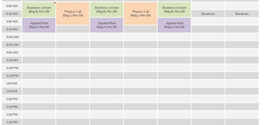 Sample Schedule Template Class Schedule Template  Free Sample