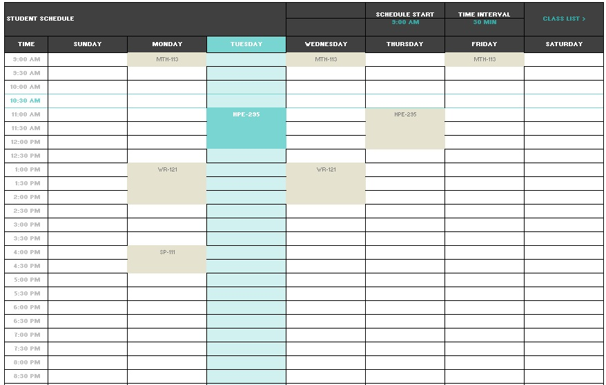 12 free sample teacher schedule templates printable samples here is preview of another sample teacher schedule template created using ms excel pronofoot35fo Gallery