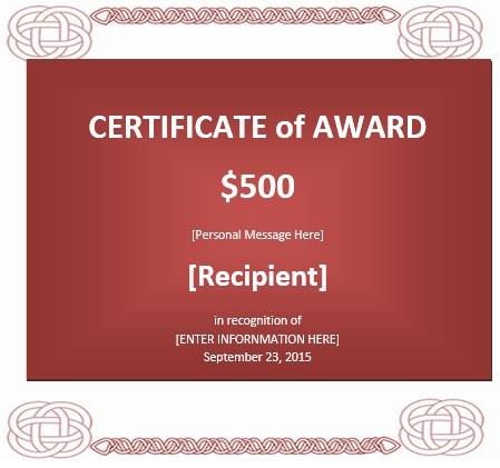 Good Here Is Preview Of Another Sample Prize Voucher Template Created Using MS  Word,