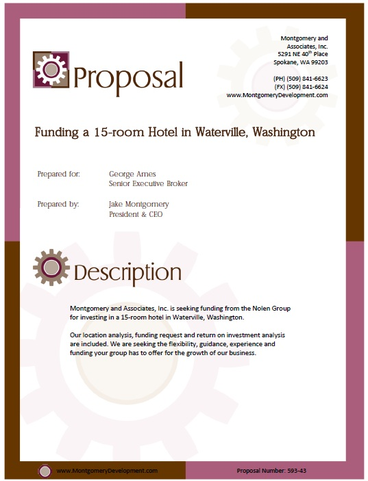 Here Is Preview Of Another Sample Investment Proposal Template In PDF  Format,  Business Funding Proposal Template