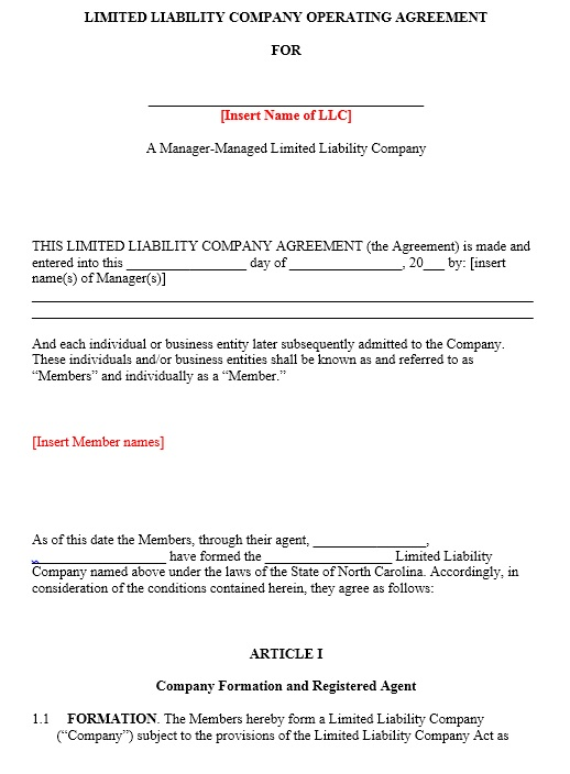An llc operating agreement is a legal document that outlines the ownership and member duties of your limited liability company. 13 Free Sample Operating Agreement Templates Printable Samples