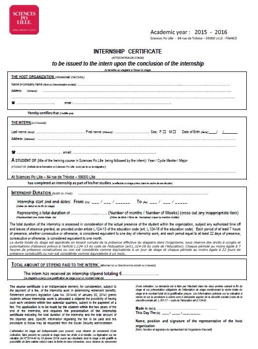 11 Free Sample Internship Certificate Templates - Printable Samples