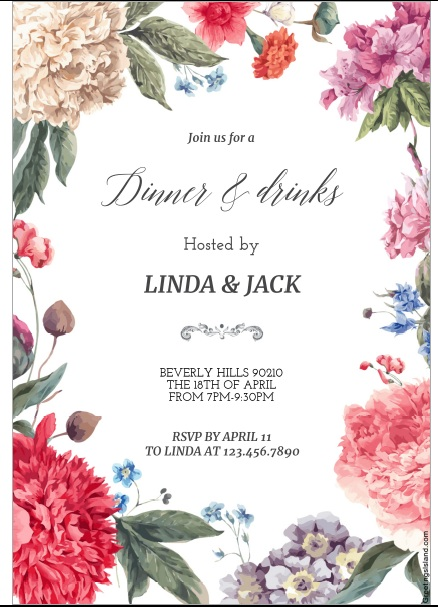 12 free sample dinner invitation card templates printable samples here is preview of another sample dinner invitation card template in pdf format stopboris Choice Image