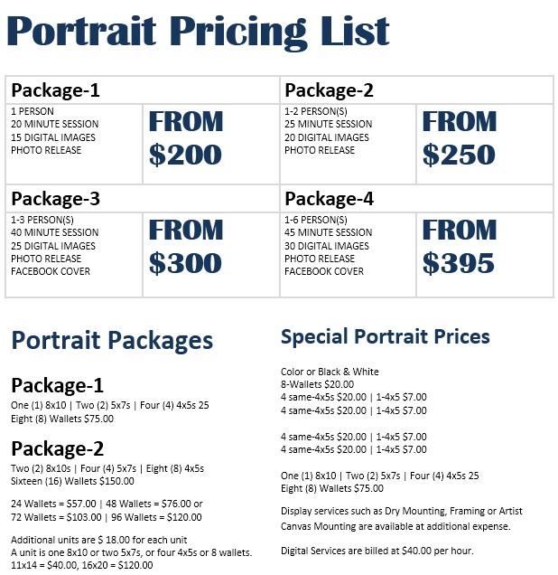 9 Free Sample Wedding Photography Price List Templates Printable