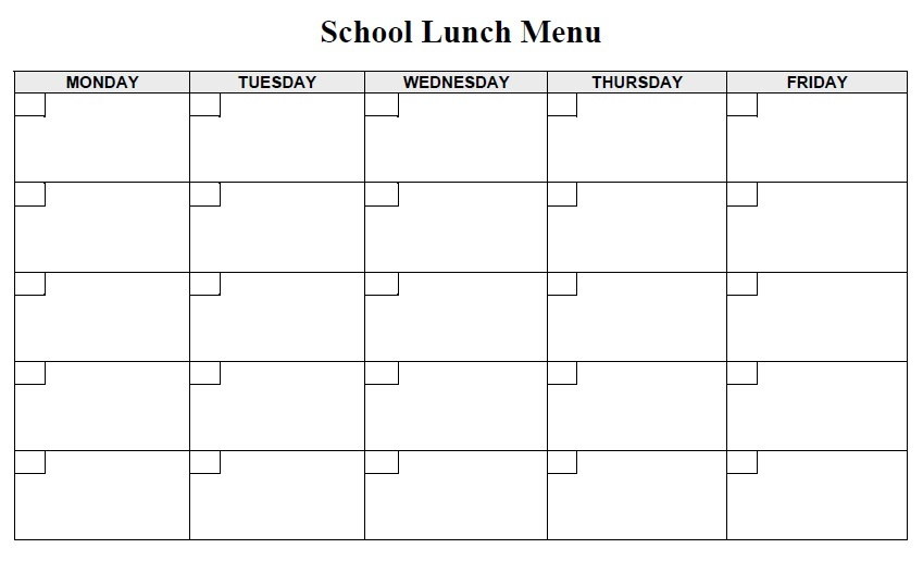 Free Sample Lunch Menu Templates  Printable Samples