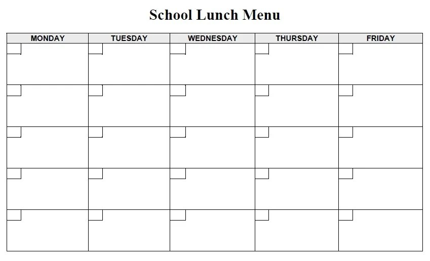 13 Free Sample Lunch Menu Templates Printable Samples