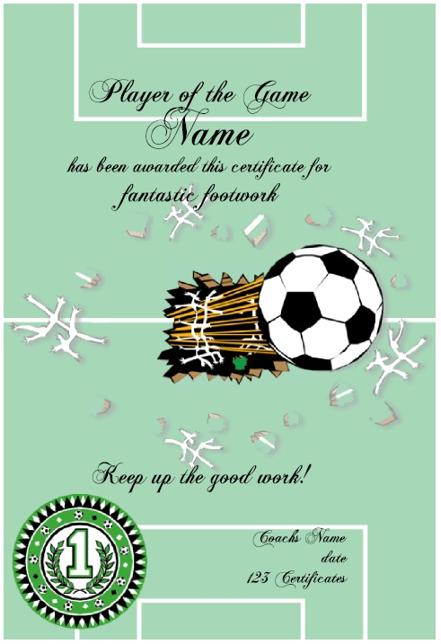 13 free sample soccer certificate templates printable samples