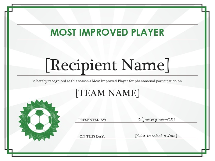 Here Is Preview Of Another Sample Soccer Certificate Template Created Using  MS Word,  Free Editable Certificate Templates For Word