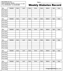 free printable blood sugar log