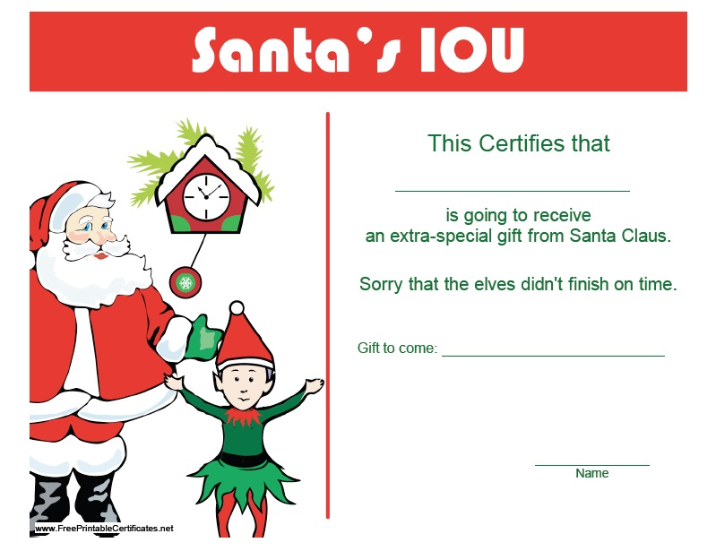 11 Free Sample Christmas Gift Certificate Templates Printable Samples