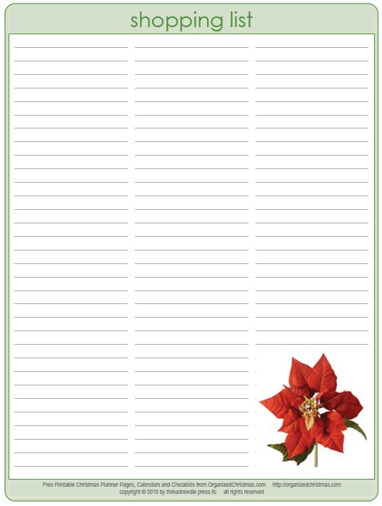 Christmas List Format Christmas Planner  Newsletter Christmas
