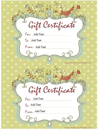 gift certificate template birthday