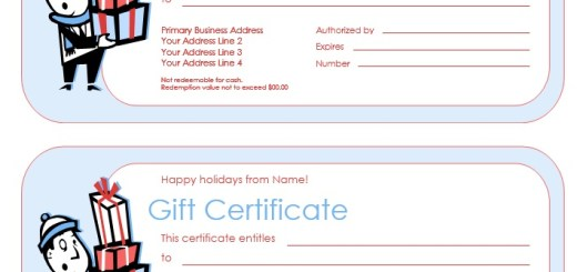 Gift Certificates  Printable Samples