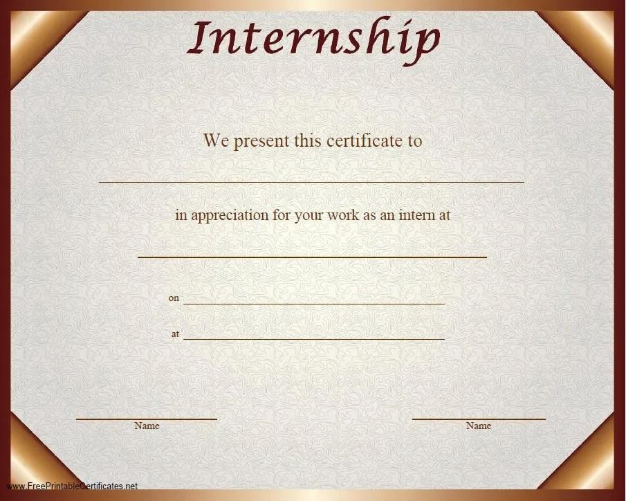 11 free sample internship certificate templates printable samples yadclub Choice Image