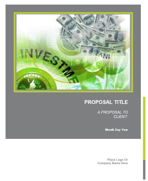 13 Free Sample Investment Proposal Templates – Printable Samples