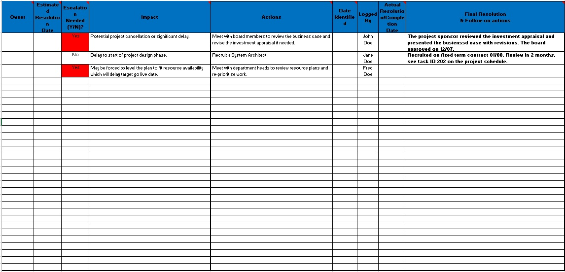 13 free sample issue log templates printable samples here is preview of another sample issue log template created using ms excel maxwellsz