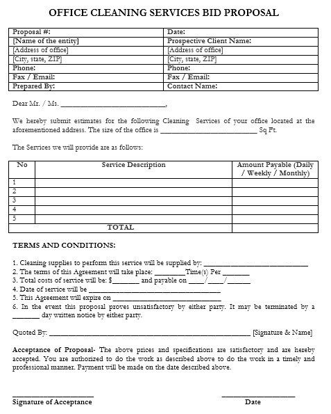 Here Is Preview Of Another Office Monthly Service Quotation Template  Created Using MS Word,