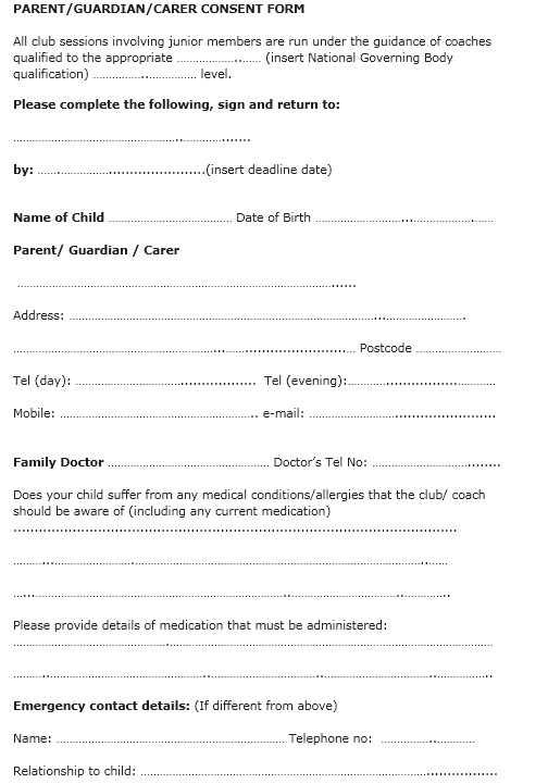 Here Is Preview Of This First Sample Travel Consent Form Template Created  Using MS Word,  Club Membership Form Template Word