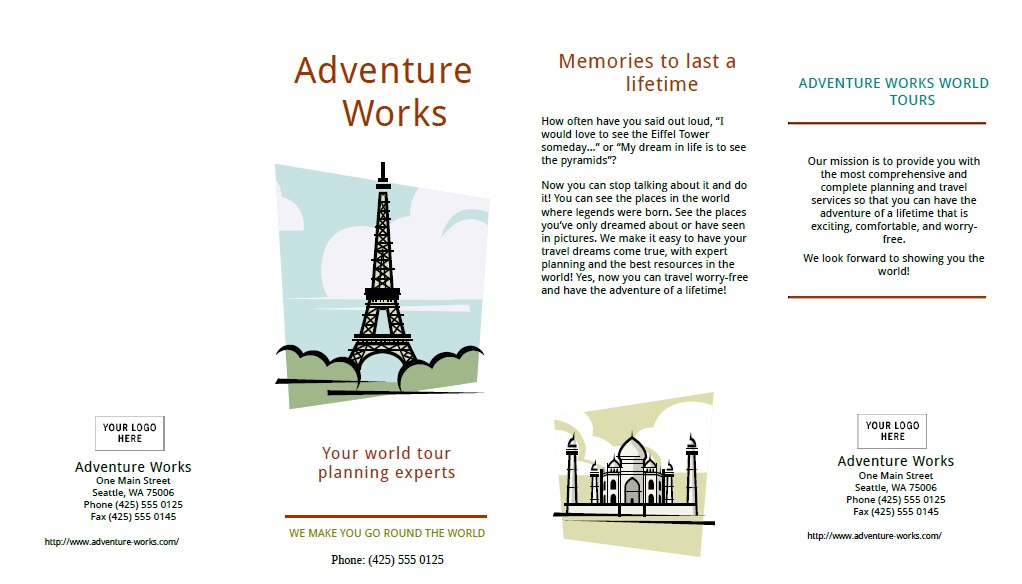 10 Free Sample Tourist Brochure Templates Printable Samples