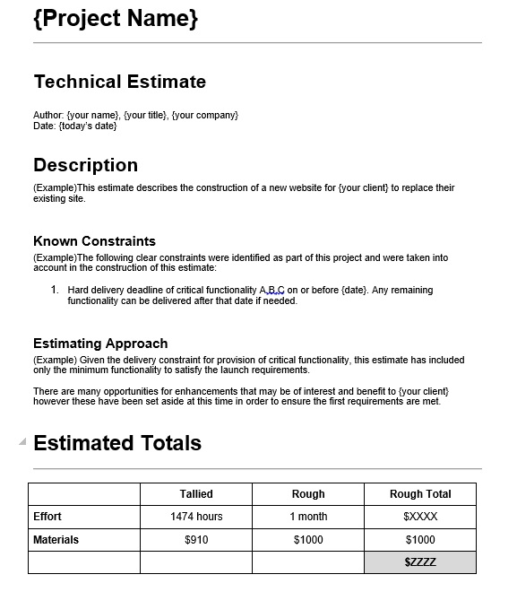 Here Is Preview Of This First Sample Web Design Estimate Evaluation Form  Created Using MS Word,