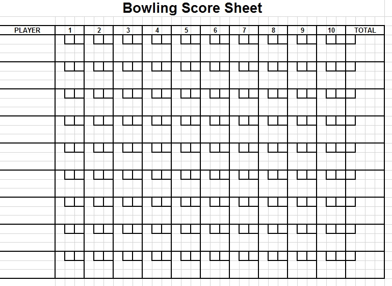 9 Free Sample Bowling Score Sheet Templates – Printable Samples