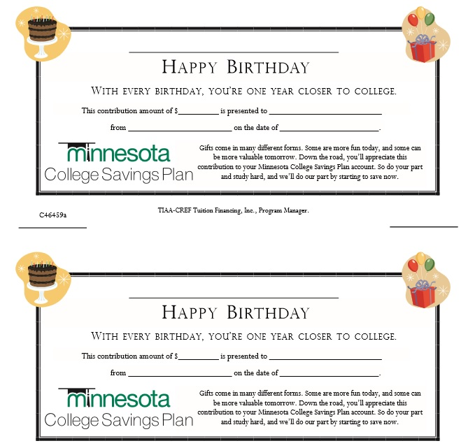 Sample Birthday Gift Certificate Template Blank Birthday Gift