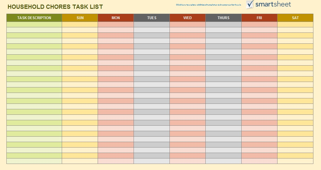 Free Sample Weekly To Do List Templates  Printable Samples