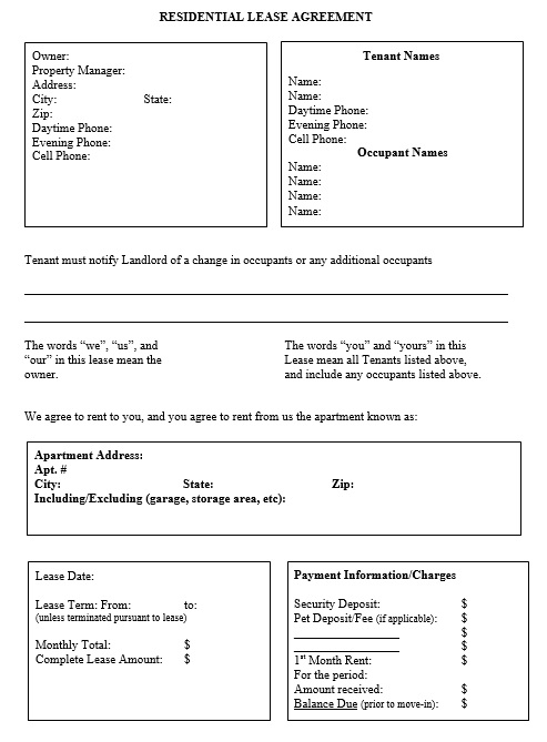 12 Free Sample Legal Lease Agreement Templates Printable