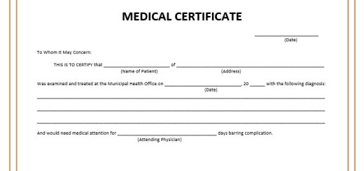 Preparing Medical Certificate Archives  Printable Samples