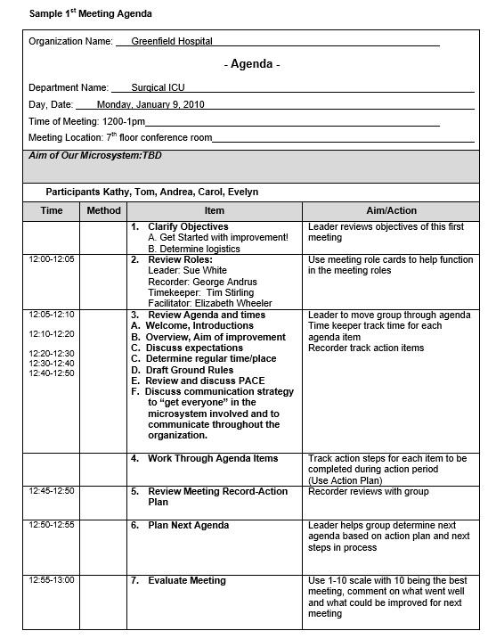 9 free sample basic meeting agenda templates