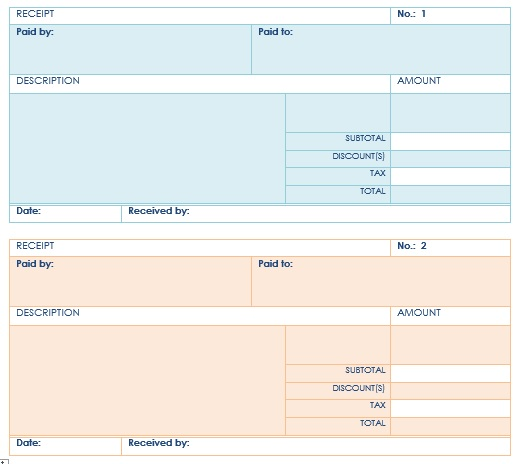 Here Is Preview Of Another Sample Loan Installment Receipt Template Created  Using MS Word,  Paid Receipt Template