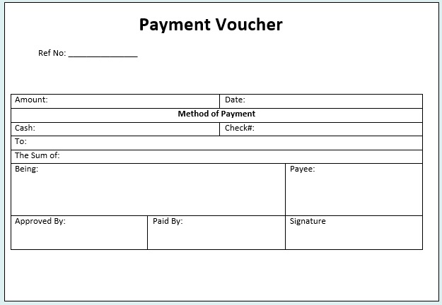 Free Sample Cash Voucher Templates  Printable Samples