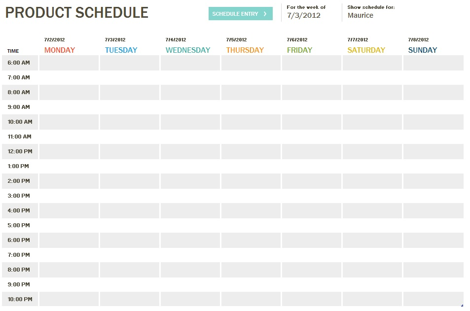 ms office schedule template