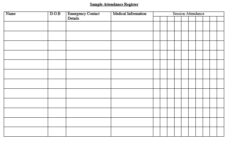 Free Sample School Attendance Sheet Templates  Printable Samples