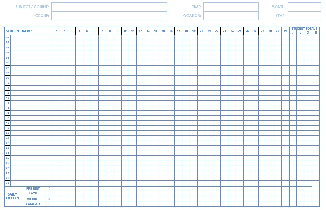 13 new photos of sunday school attendance chart free printable